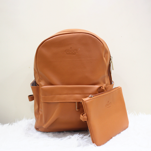 Gucci 2 in 1 backpack Brown Front