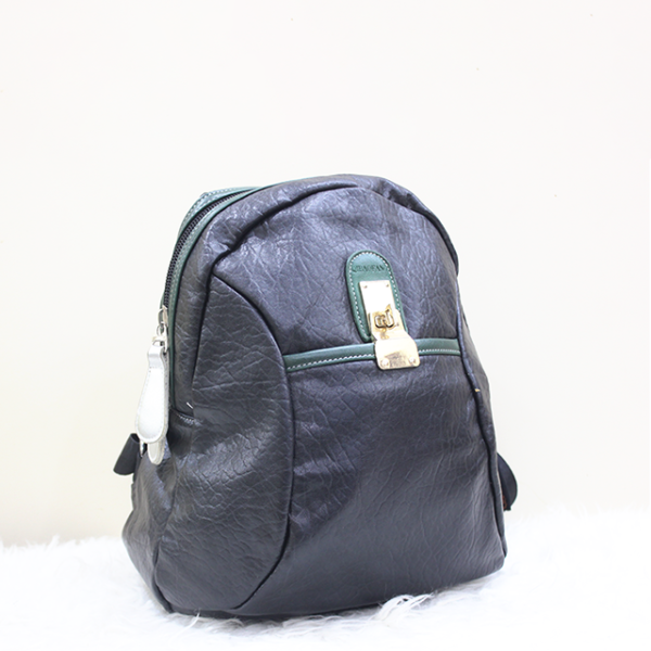 Unique Doted Leather Backpack Front