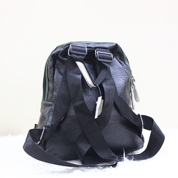 Unique Doted Leather Backpack Back