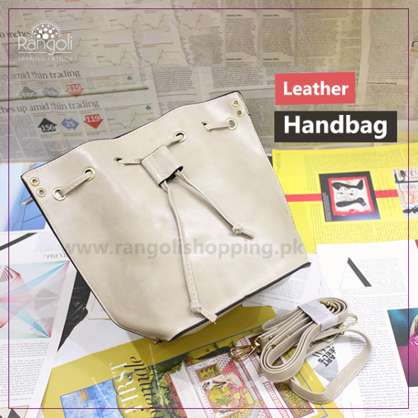Leather Handbag beige