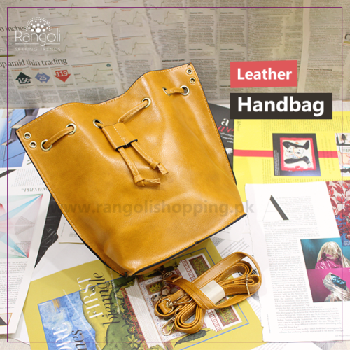 Leather Handbag Yellow