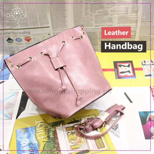 Leather Handbag Pink