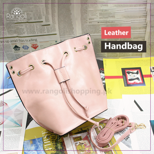 Leather Handbag peach