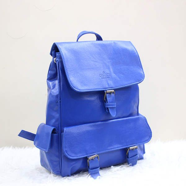 Gucci Backpack Blue Front