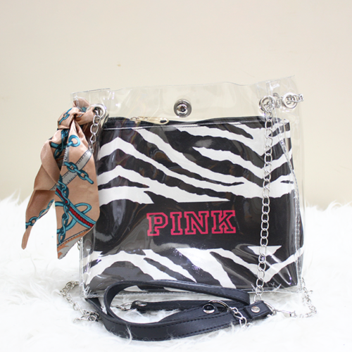 Jelly Side Purse black & white