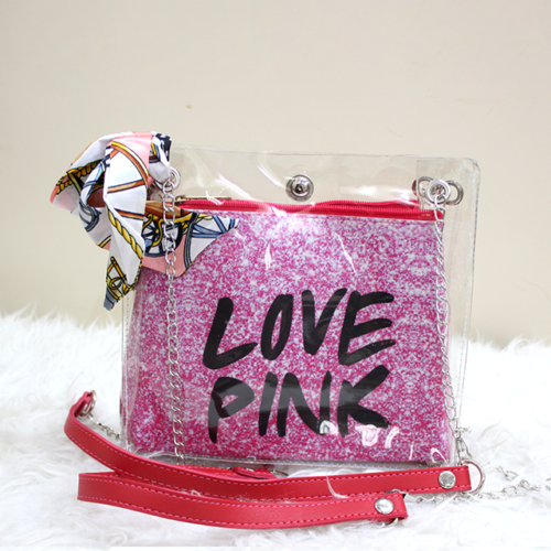 Jelly Love Pink Side Purse