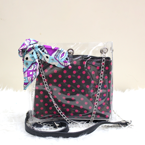 Jelly Side Purse Red Polka Dot