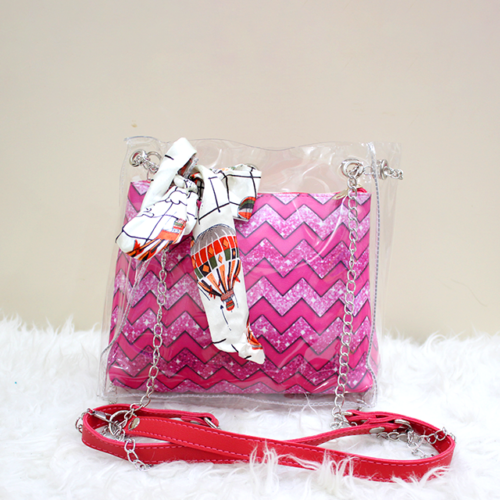 Jelly Side Purse Pink line