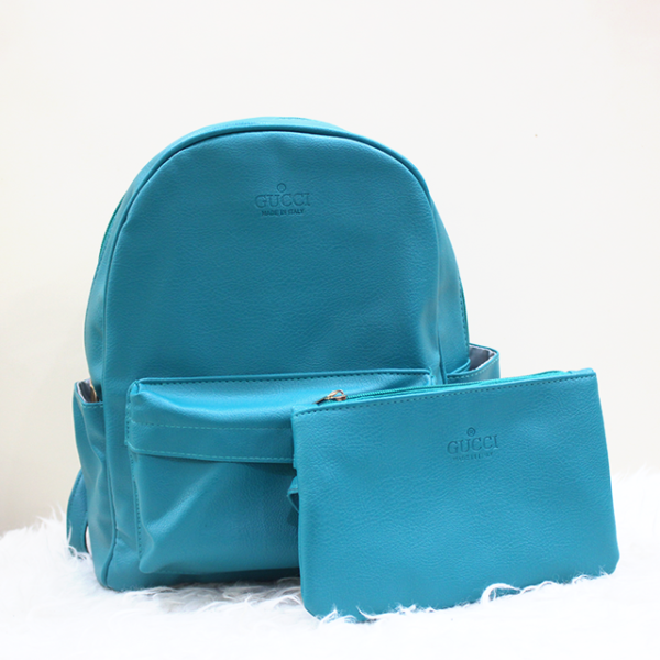 Gucci 2 in 1 backpack Sea Green Front