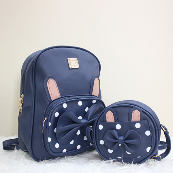 Doted Backpack blue front