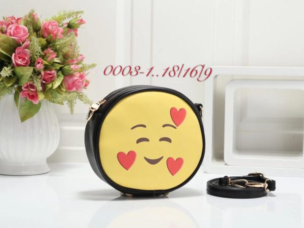 Emoji Sidepurse Black love