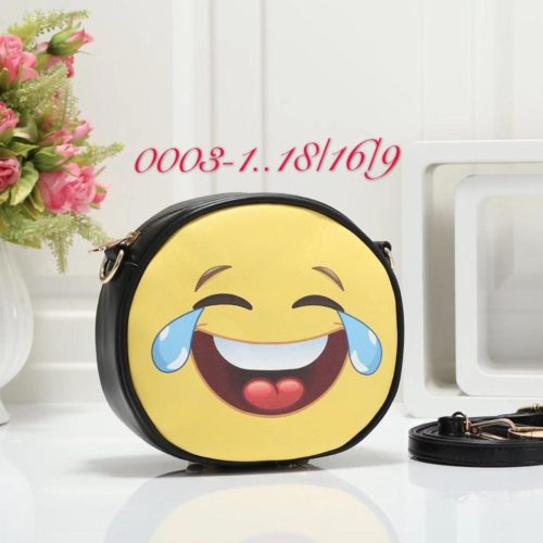 Emoji Sidepurse Black Joy