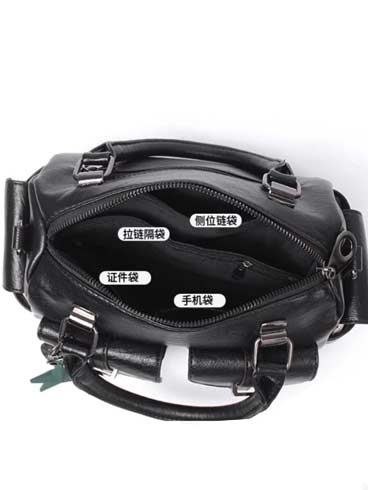 Double Pocket Leather Bag